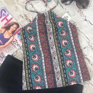 Billabong patterned tankini top